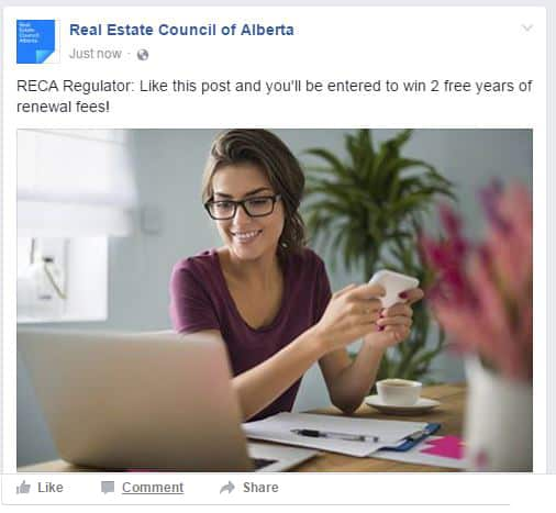 facebook ad showing incentive