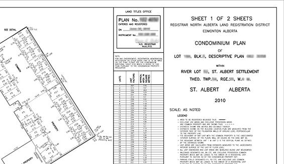condominium plan example